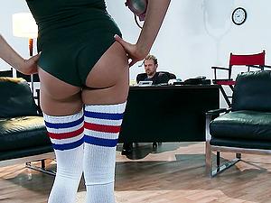Mia Malkova hops on Erik Everhard's weiner after sucking it