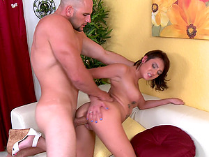 Chase Ryder shows her ultra-cute booty and gets banged rear end style