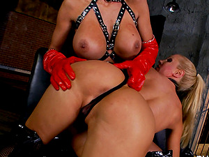 Awesome Sadism & masochism and ass-fuck going knuckle deep girl/girl clip with hot blonde Puma Swede