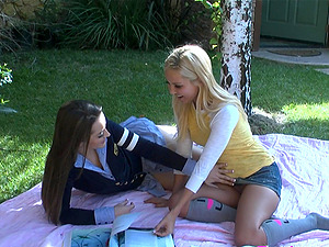 Aaliyah Love And Dani Daniels In A Mischievous G/g Gonzo Banging