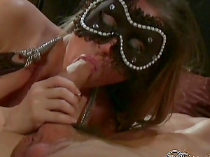 Ladies In Mask Gets Fucked And Receives Cum shot