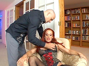Shannon is fucked foolish while wearing stockings