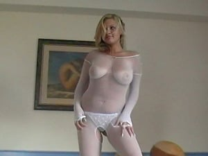 Solo Model In G-string Plays Plays With Big Nips In Reality