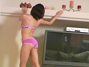 Reality Homemade Clip With Horny Model In Underpants And Brassiere