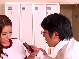 Japanese Locker Room Gonzo Fellatio Act
