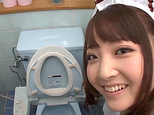 Asian Adult movie star Providing Her Dude A Oral job In The Wc