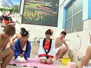 Horny Japanese Stunners Get Hard-core Fucked In This Nasty Orgy