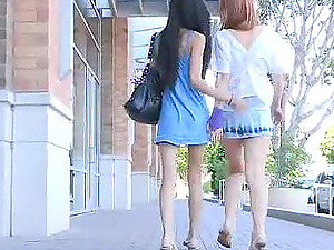 Tamara & Lacie are ambling in downtown smooching and fingerblasting each other