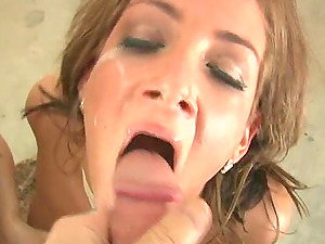Hard-core compilation flick with dual oral pleasure scenes
