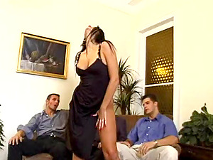 Curvy Beauty Gets A Nasty Internal ejaculation In This Hot 4 way