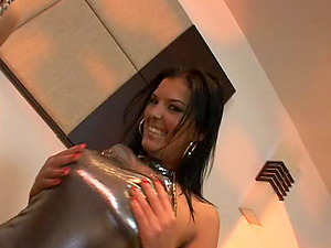 Big-titted ladies share a big dick after demonstrating off their massive tits