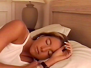 Sleeping Chick In Undies Masturbating In A Close Up Shoot