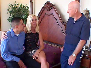 Sexy Cougar Gets A Nasty Facial cumshot While Her Cheating Hubbies Witnesses