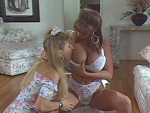 Lesbos In Brassiere Work On Their Smoothly-shaven Fuckboxes And Hot Culo With Fucktoys