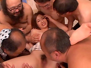 Crazy Asian Cowgirl With Natural Tits In Brassiere Group-fucked Hard-core