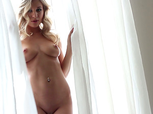 Blonde Solo Model Does Glamour Shoot In Undergarments And Undies