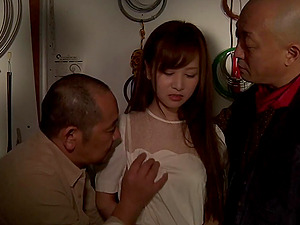 Yukina Kawai dual fucked in old and youthfull themed threesome