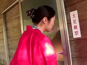 Ambitious Asian cowgirl providing massive dick superb boob job in threesome fuck-a-thon