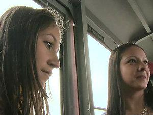 Two amazing Latina honies got fucked by Yankee tourist