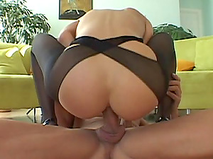 Very hot female uses playthings on her caboose then gets ass fucking plowed