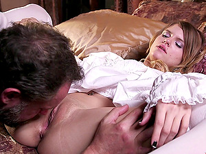 Scarlett Fever gets her slick vagina banged by Alec Knight