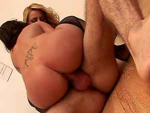 Lovely pornography sweethearts Angelika and Chloe gives fat manstick a hot blowage