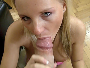 Randy stud gets his jizz-shotgun and testicles ate and sucked by a blonde