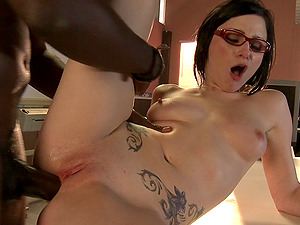 After school rectal hook-up with a flirty stunner and a big black man rod