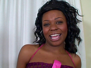 Hot oral job scene with horny pornography black butt hotty Janice Delicious in act