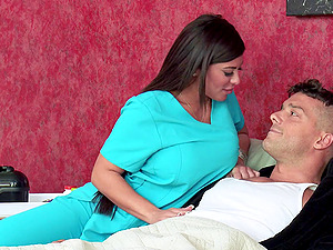 Even nurses love big shafts ,see how well she treats him