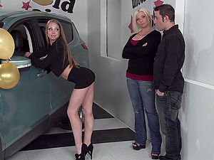 Sex-positive car sales female will fuck a customer to sell a vehicle