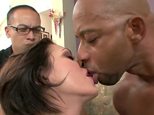 Cheating spouse witnessing his wifey fucking a very dangled black man
