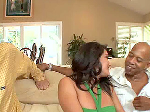 Her spouse witnesses as she cums on a black boy's big dick