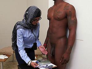 Horny Arabian porno starlet jerking two stiff peckers