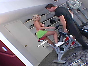 Married blonde wants her private trainer's rock hard dick