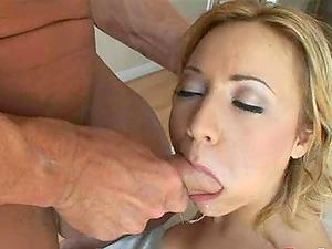 Big-boobed blonde cockslut has her sweet meaty vulva drilled