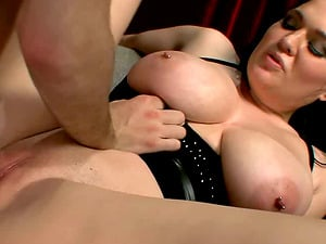 Amorous stunner with big melons gives a giant penis a superb oral pleasure in point of view