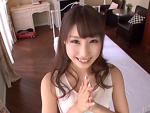 Sailor female underwear set is so sexy on a Japanese man sausage stroker