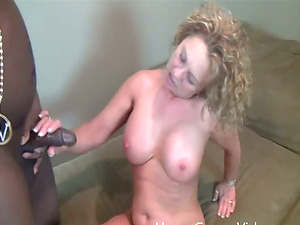 A horny milky Mummy gets her cram of thick, black hard-on