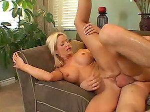 Hot naked guy entering a vagina