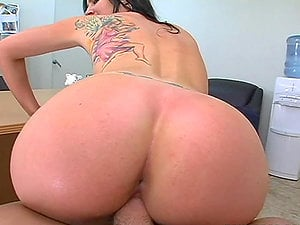 Huge-chested black-haired stunner Krista gets fucked at the job interview