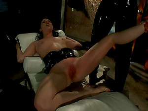 Kink lesbos in spandex using forceps and fucktoys to get crazy