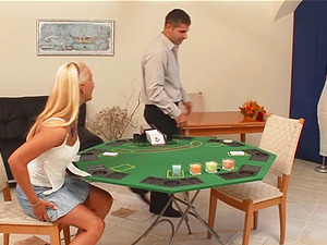 Lustful duo plays disrobe poker that completes appropriately