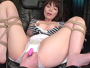 Frogtied Japanese cocksluts getting penetrated like they deserve