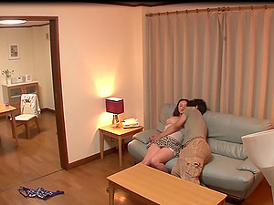 A hidden web cam in a motel room catches a duo fucking