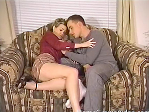 Dick thirsty Cougar taking a rough rail on a hard prick