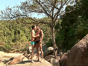 Queer studs works up a sweat and fuck in the fine outdoors