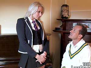 Athletic dame takes a receptive position on the couch for a xxx doggystyle