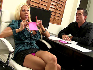 Only a monster hard-on can sate bimbo tramp Nikita Von James