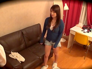 A hidden camera catches Yuuka Tachibana switch clothes